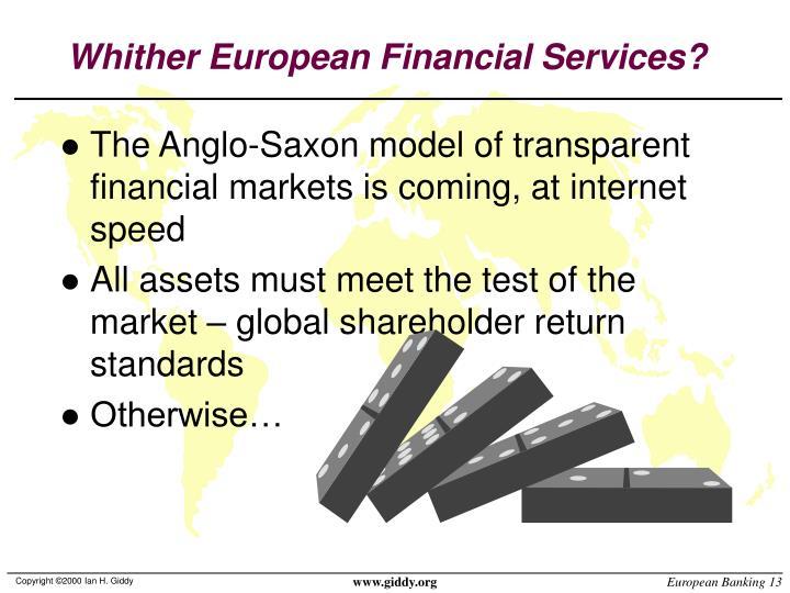 Whither European Financial Services?
