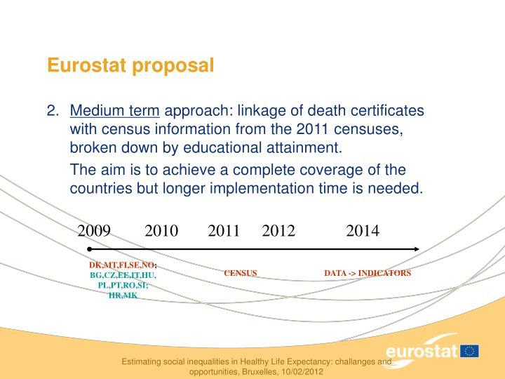 Eurostat proposal