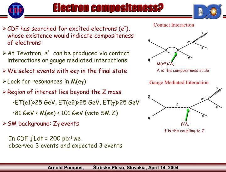 Electron compositeness?