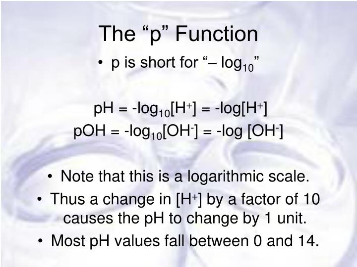 "The ""p"" Function"