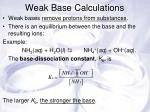 weak base calculations