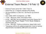 external team recon 7 9 feb 12