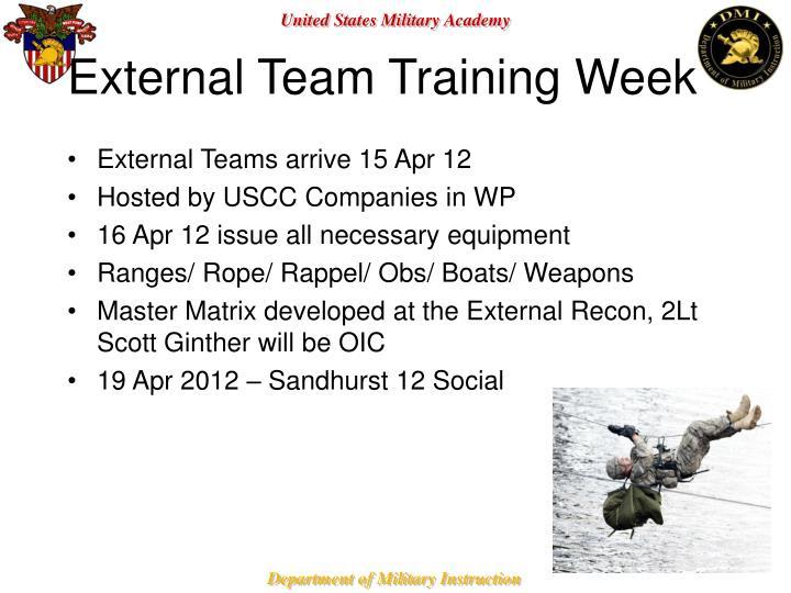 External Team Training Week
