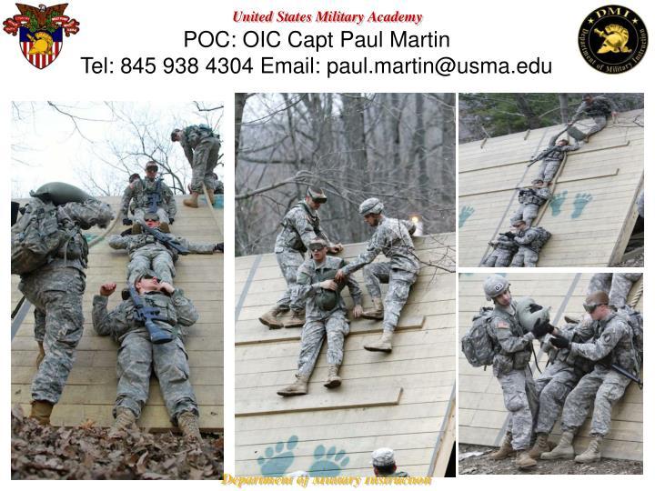 POC: OIC Capt Paul Martin
