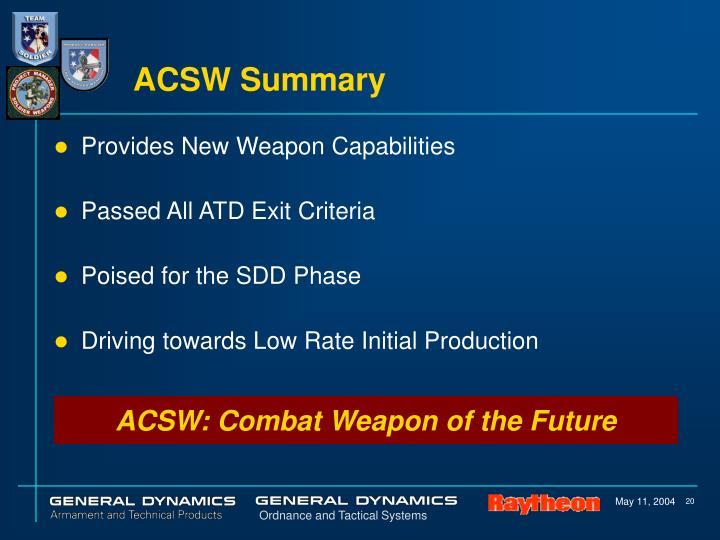 ACSW Summary