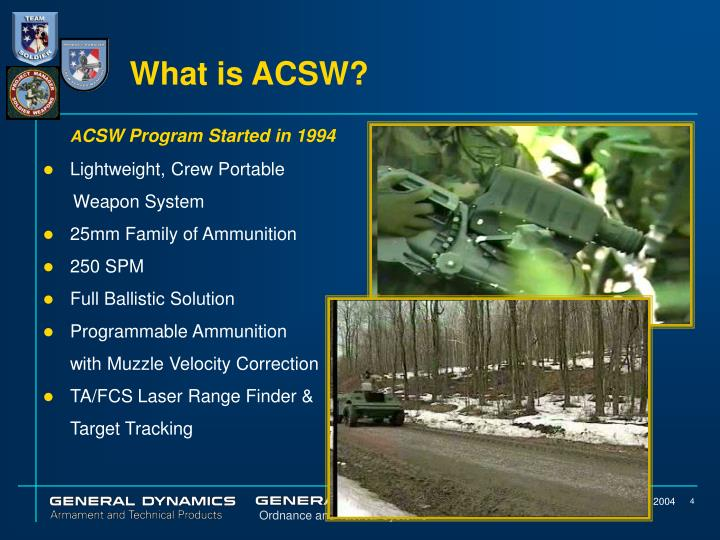 What is ACSW?