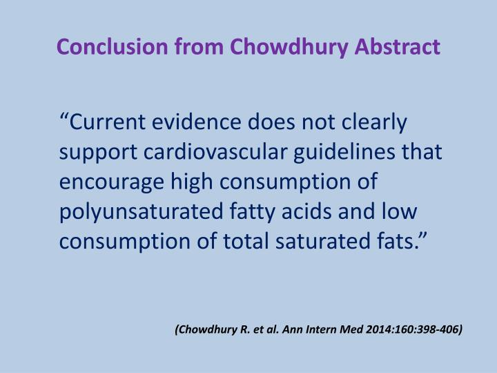 Conclusion from Chowdhury