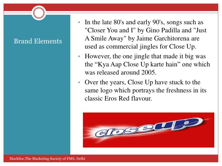 "In the late 80's and early 90's, songs such as ""Closer You and I"" by Gino Padilla and ""Just A Smile Away"" by Jaime"