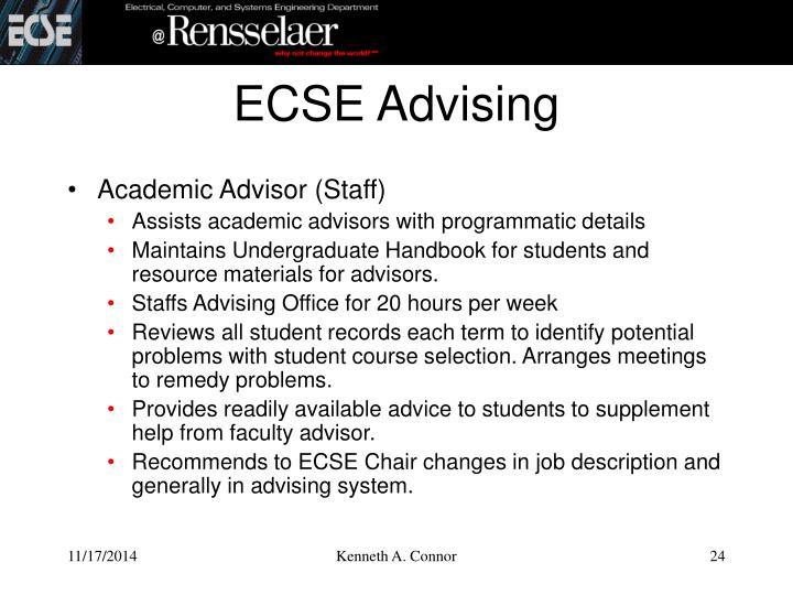 ECSE Advising