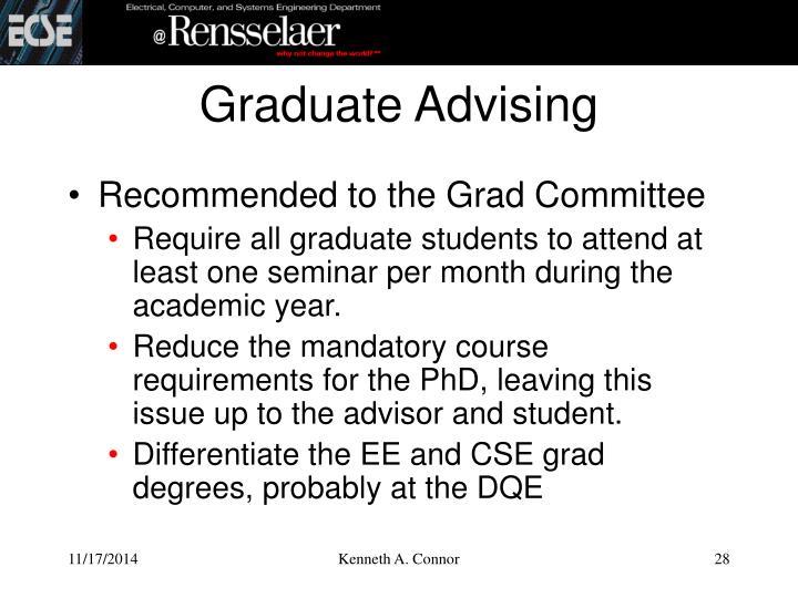 Graduate Advising