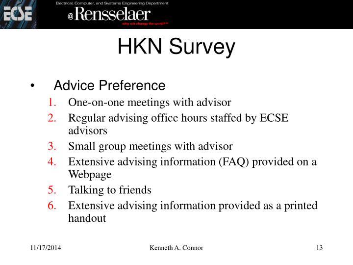 HKN Survey