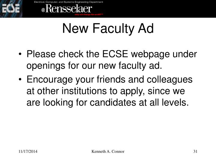 New Faculty Ad