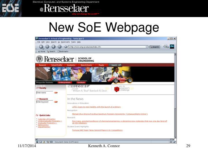 New SoE Webpage
