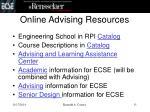 online advising resources