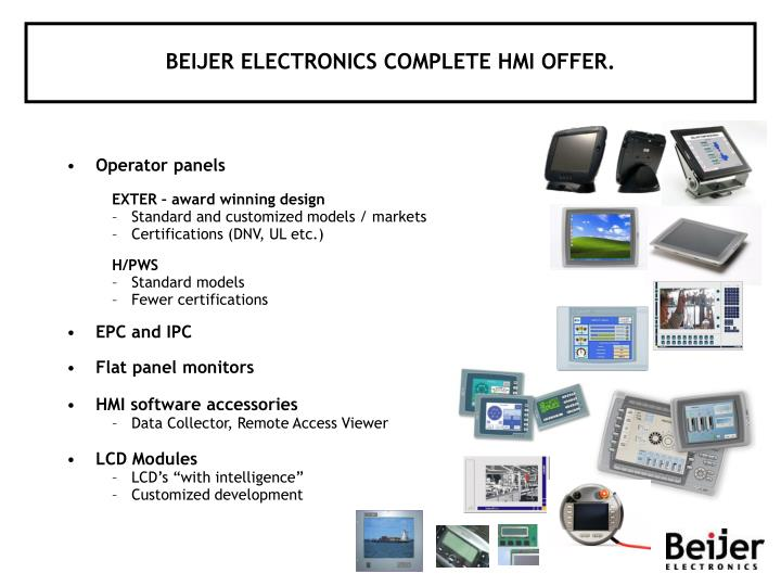 Beijer electronics complete hmi offer