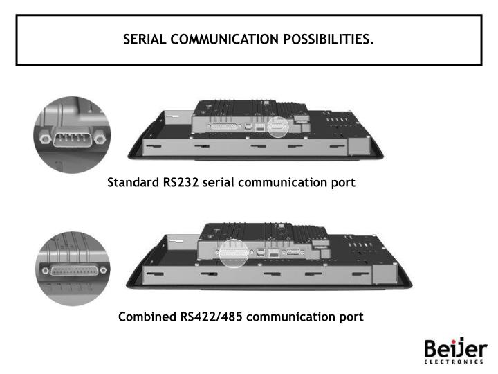 SERIAL COMMUNICATION POSSIBILITIES.