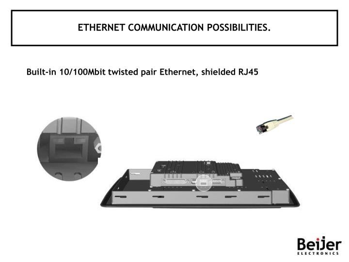 ETHERNET COMMUNICATION POSSIBILITIES.