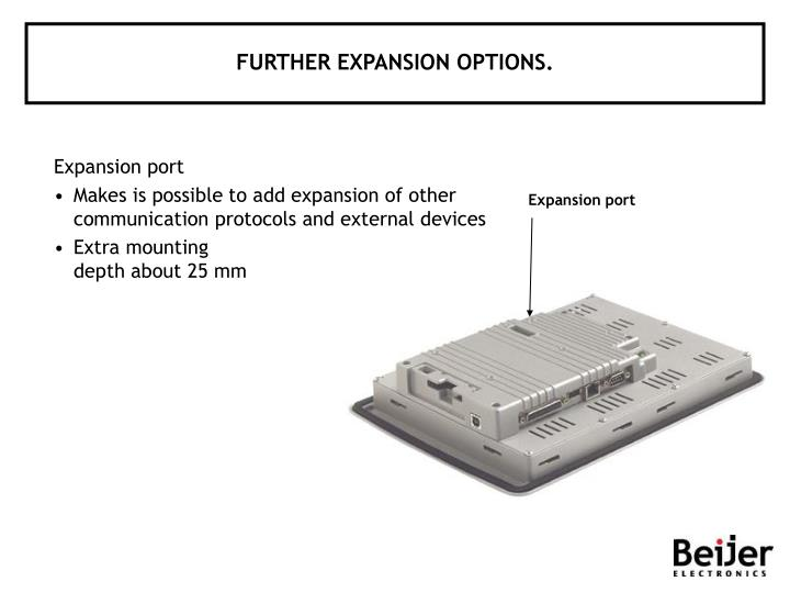 FURTHER EXPANSION OPTIONS.