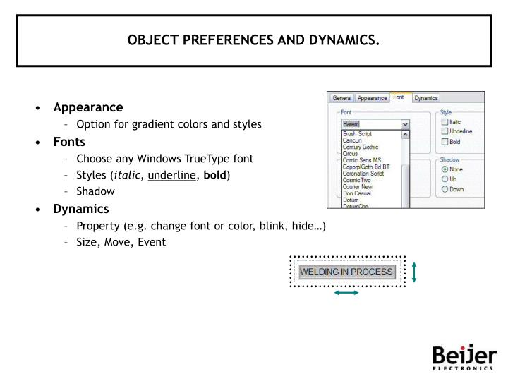 OBJECT PREFERENCES AND DYNAMICS.