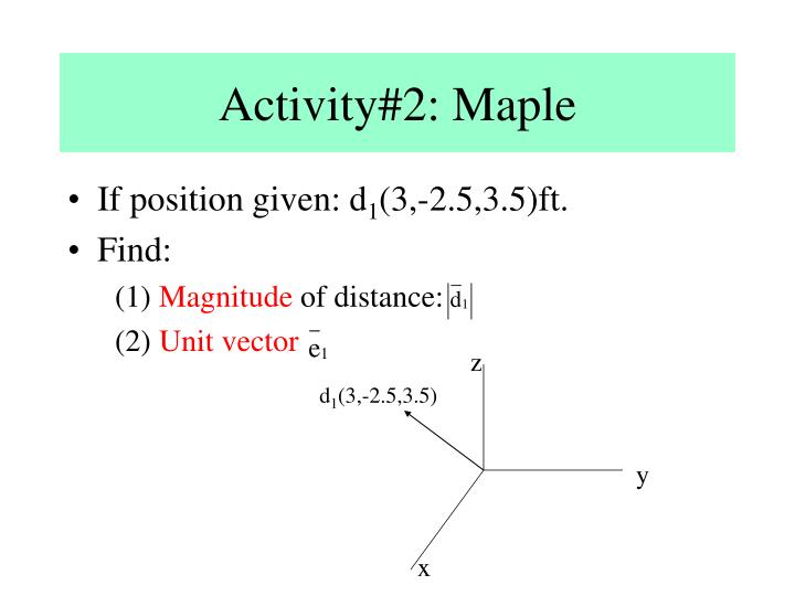 Activity#2: Maple