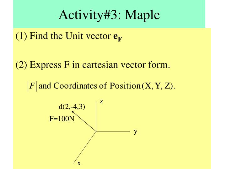 Activity#3: Maple