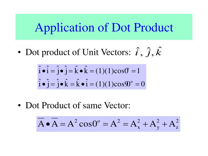 Application of Dot Product