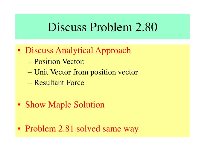 Discuss Problem 2.80