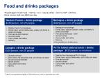food and drinks packages