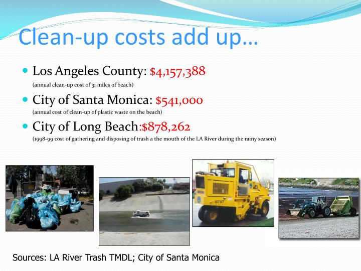 Clean-up costs add up…