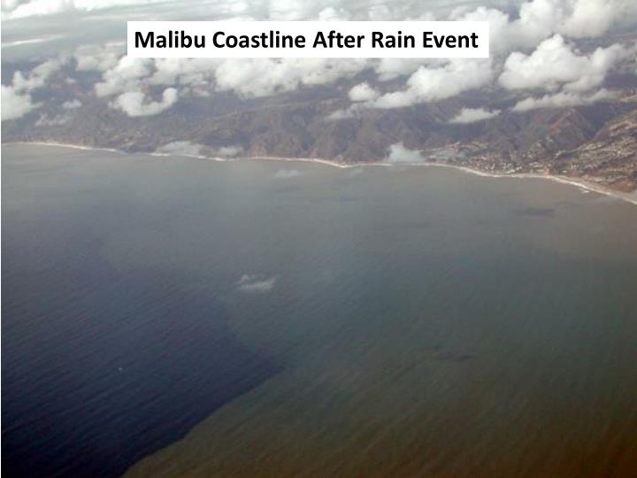 Malibu Coastline After Rain Event
