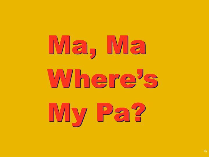 Ma, Ma Where's