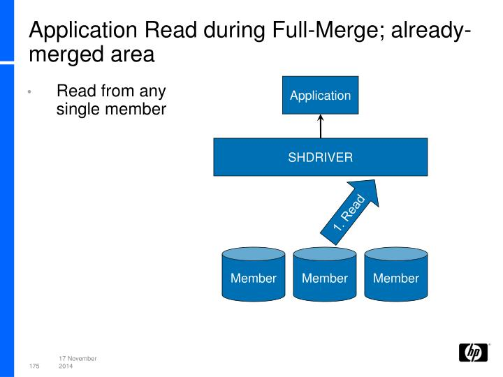 Application Read during Full-Merge; already-merged area