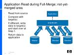 application read during full merge not yet merged area