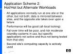 application scheme 2 hot hot but alternate workloads