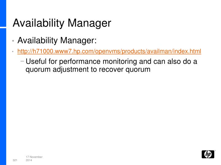 Availability Manager