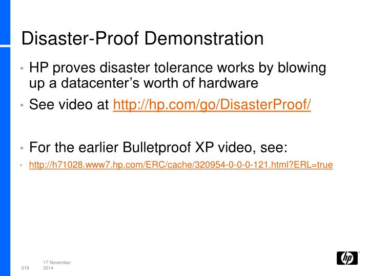 Disaster-Proof Demonstration