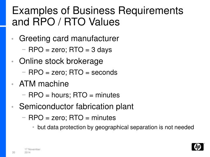 Examples of Business Requirements