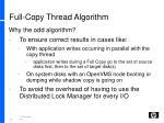 full copy thread algorithm1