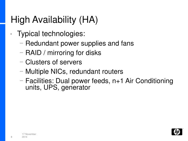 High Availability (HA)