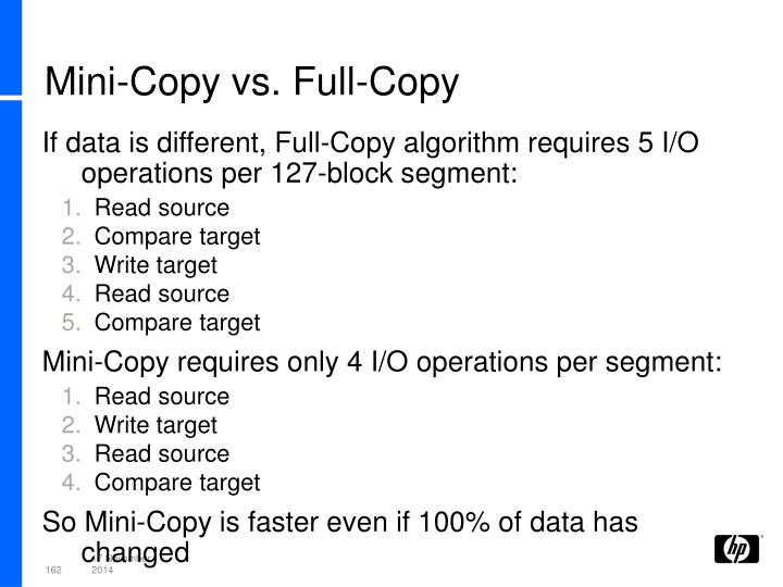 Mini-Copy vs. Full-Copy
