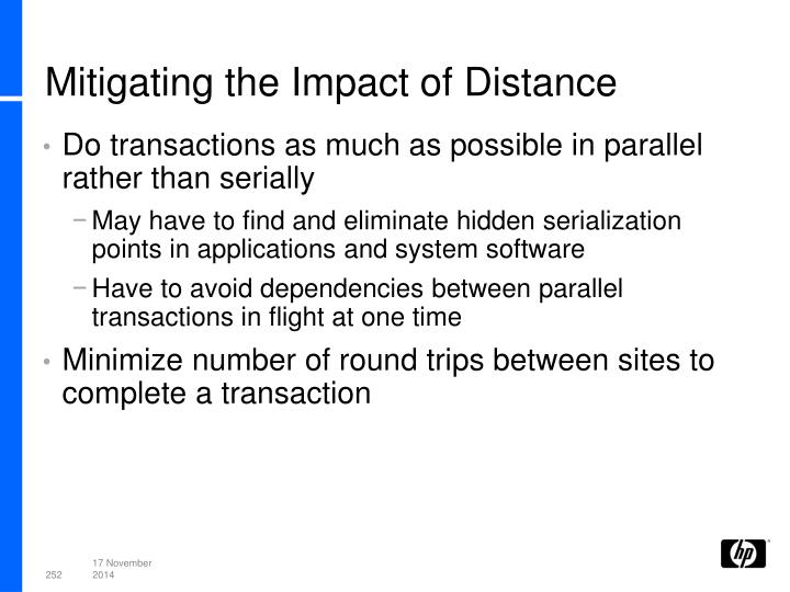 Mitigating the Impact of Distance