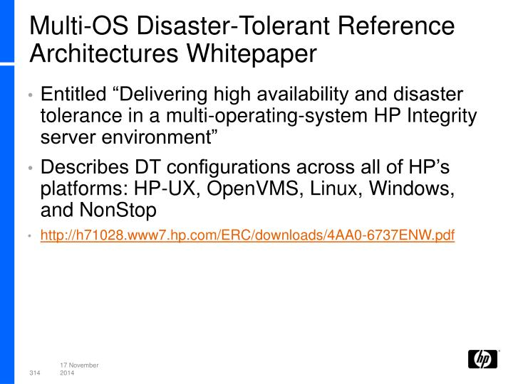 Multi-OS Disaster-Tolerant Reference Architectures Whitepaper