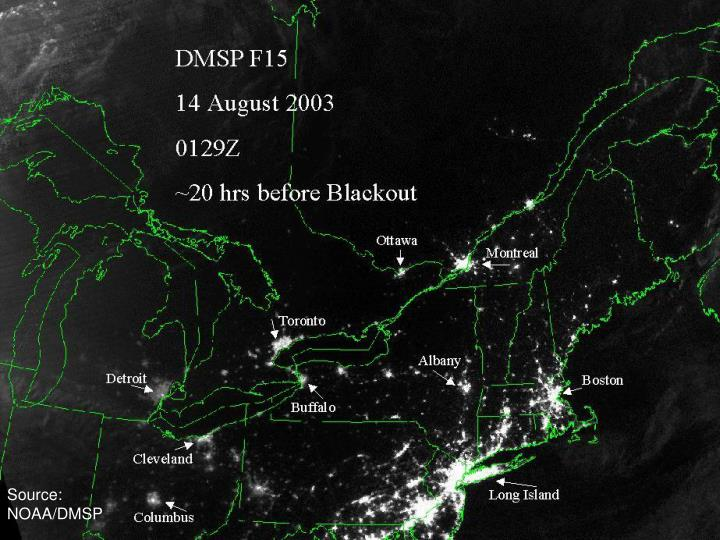 Northeast US Before Blackout