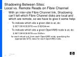 shadowing between sites local vs remote reads on fibre channel