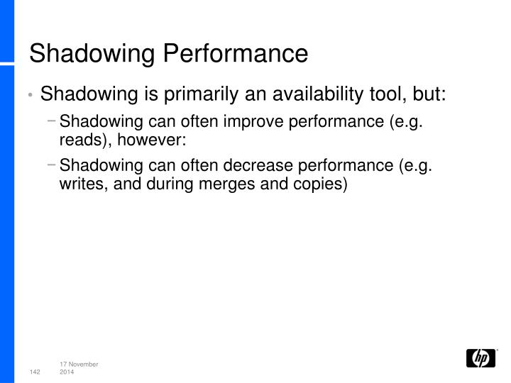 Shadowing Performance