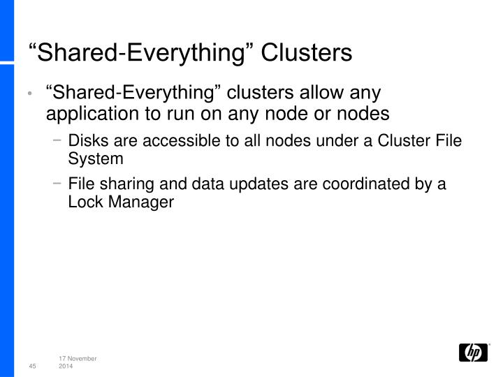 """Shared-Everything"" Clusters"