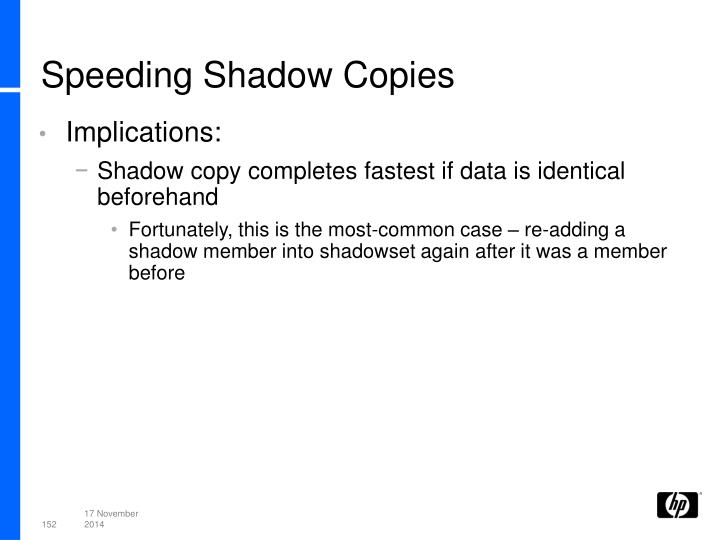 Speeding Shadow Copies