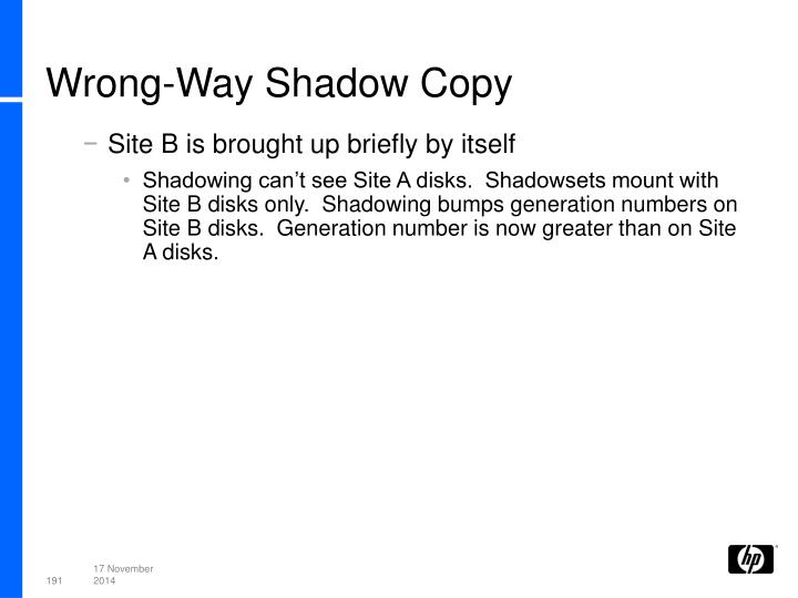 Wrong-Way Shadow Copy