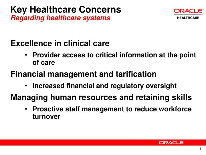 Key Healthcare Concerns