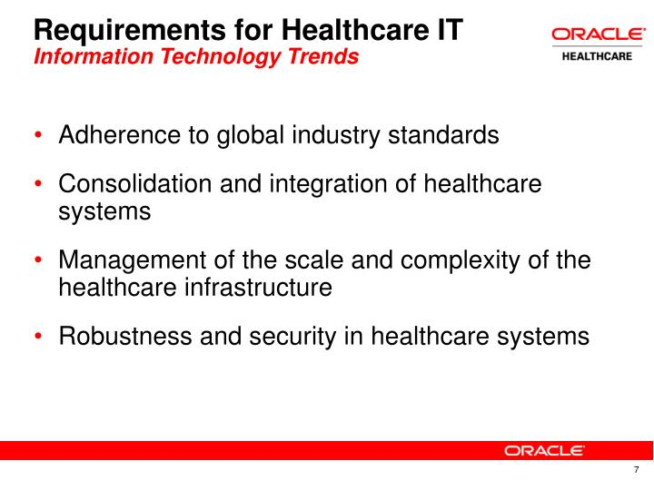 Requirements for Healthcare IT